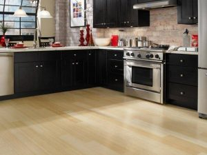 Kitchen flooring tiles and cabinetry