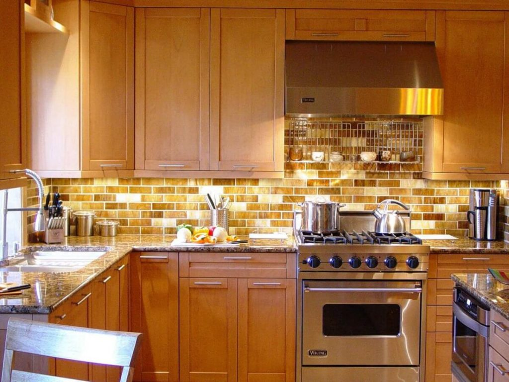 travertine Kitchen backsplash installer