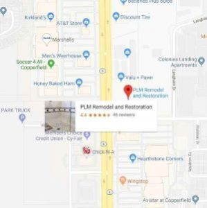 PLM Remodel Restoration houston location Map