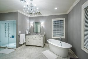 master-bathroom-design-bathtub and shower