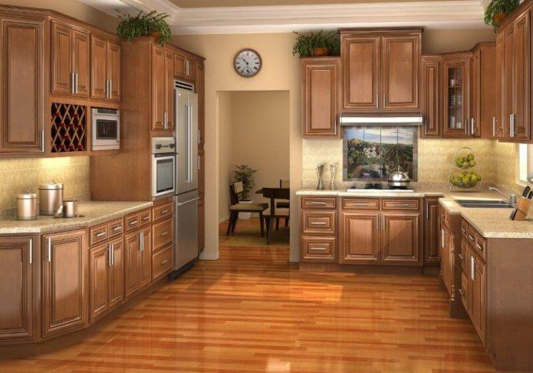 kitchen remodel oak-kitchen-cabinets