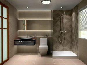 Modern Small bathroom design on a small space-min