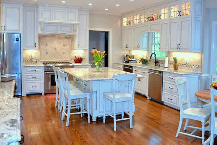 Whole-House-Renovation-showinng-exotic-kitchen-and-white-cabinetry