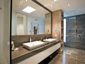 elegant Bathroom renovation idea with marble-min
