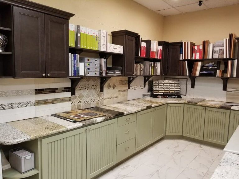 PLM remodel & Restoration office with wash cabinet and tiles